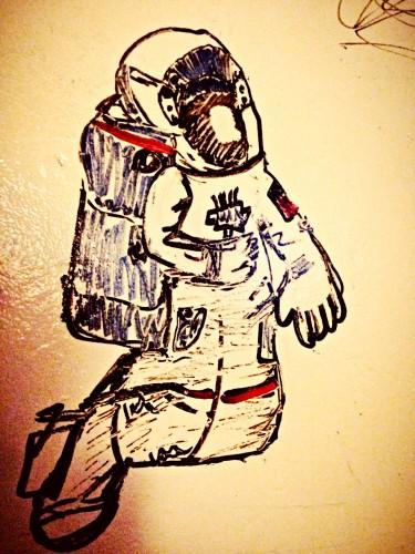 astronaut sketch