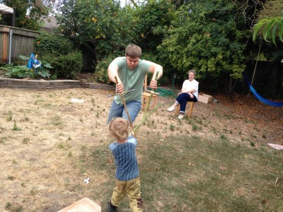 Play Time with homemade Bamboo Swords